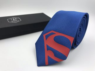 Superman Tie Blue-Red