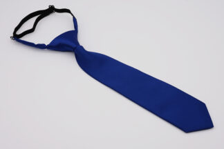 Blue pre-tied adjustable kids necktie