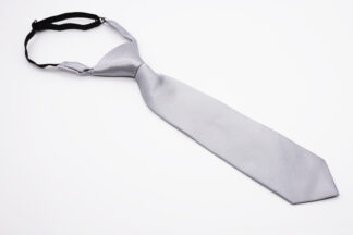 Grey pre-tied adjustable kids necktie